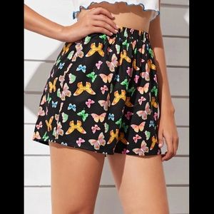 SHEIN Shorts - Gorgeous black butterfly shorts! NEW!🦋💕🌞